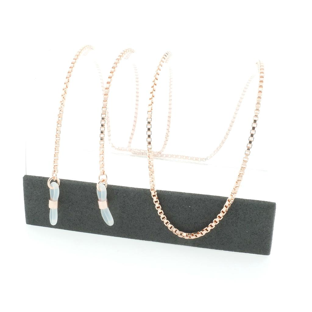 venetian chain rose gold plated