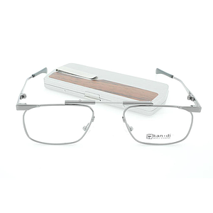 Kan-Di foldable reading glass with metal case