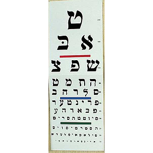reading chart hebrew letters
