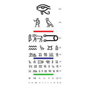 reading chart hiroglyphes letters
