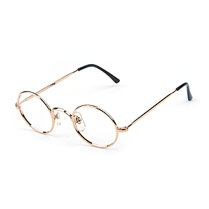 round frame with nose pads gold plated 2004g