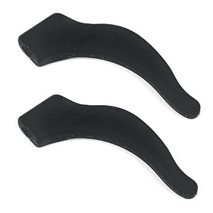 temple tip stopper curved black