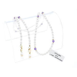 real pearl chain amethyst