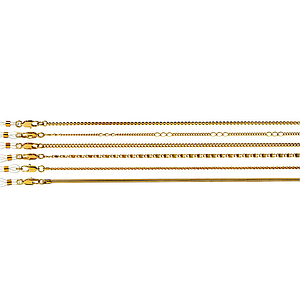 classic metal chains gold set